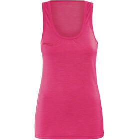 Bergans Cecilie Wool Singlet Women Bougainvillea Melange/Strawberry